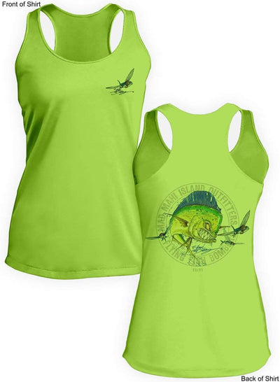 Mad Mahi- Ladies Racerback Tank-100% Polyester