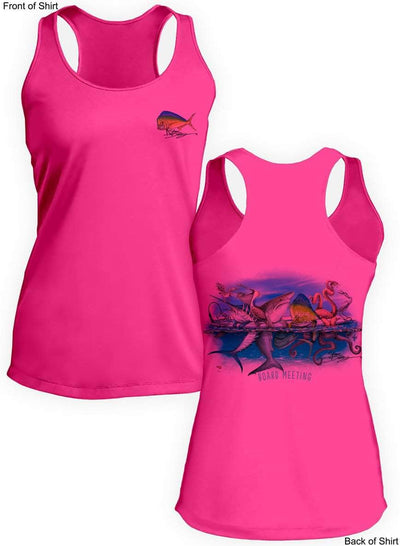 Board Meeting- Ladies Racerback Tank-100% Polyester