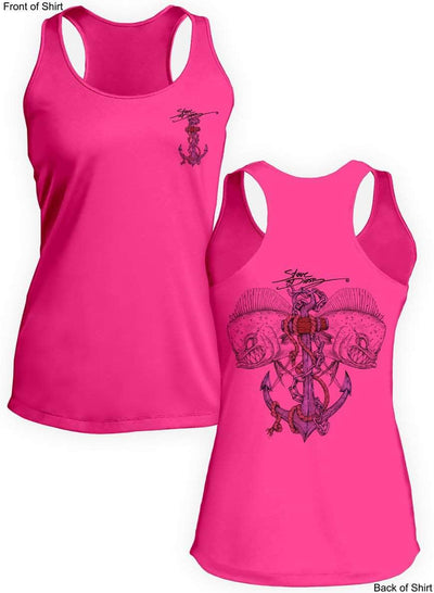 Mahi Anchor-Color- Ladies Racerback Tank-100% Polyester