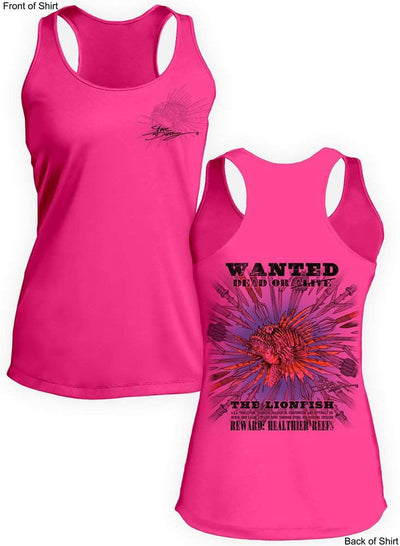 Lionfish Wanted- SPEARS- Ladies Racerback Tank-100% Polyester