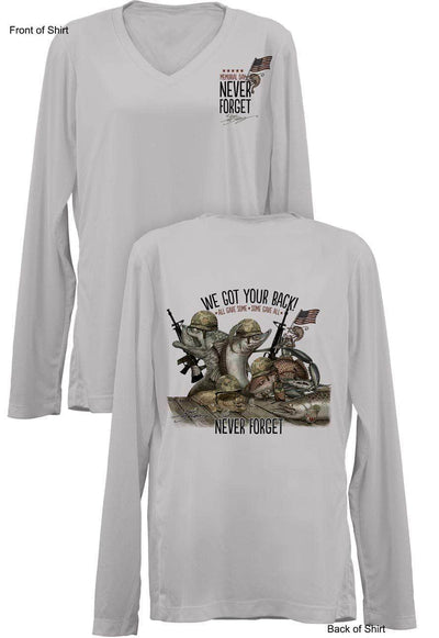 NEW! Memorial Last Call- Ladies Long Sleeve V-Neck-100% Polyester
