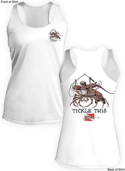 Tickle This Lobster- Ladies Racerback Tank-100% Polyester
