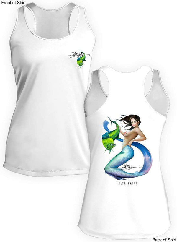 NEW! Fresh Catch- Ladies Racerback Tank-100% Polyester
