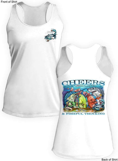 Tito's Cheers- Ladies Racerback Tank-100% Polyester