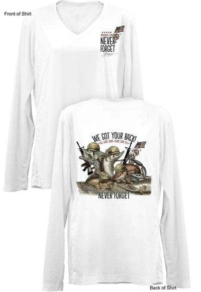 "Memorial Day ""Last Call""- Ladies Long Sleeve V-Neck-100% Polyester"