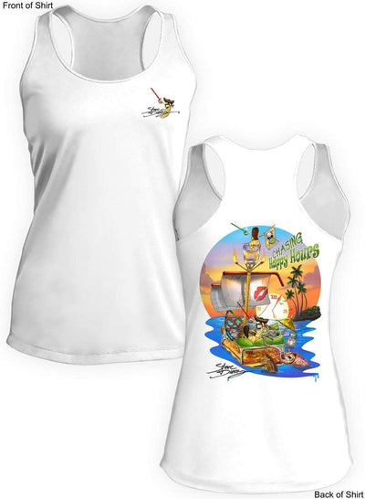 Chasing Happy Hours- Ladies Racerback Tank-100% Polyester