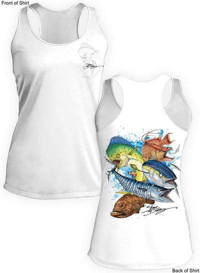 Grand Slam- Ladies Racerback Tank-100% Polyester