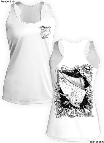 Tail Chaser- Ladies Racerback Tank-100% Polyester