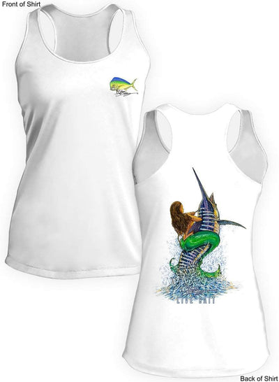 Live Bait- Ladies Racerback Tank-100% Polyester