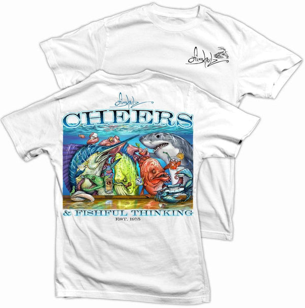 Tito's Cheers (white shirt) 100% combed ringspun cotton (2XL ONLY)