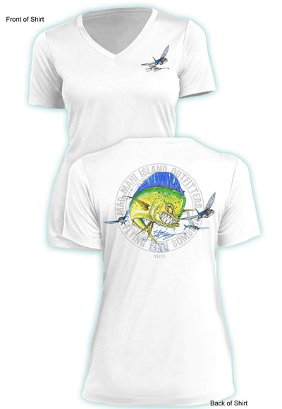 Mad Mahi - Ladies Short Sleeve V-Neck-100% Polyester