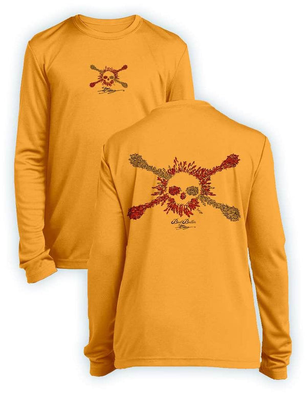 Bait Baller Jolly Roger Dive Flag- KIDS Long Sleeve Performance - 100% Polyester