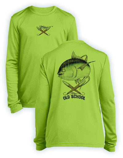 Old School Tuna- KIDS Long Sleeve Performance - 100% Polyester