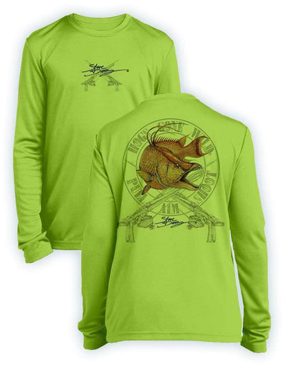 Hogs Gone Wild- KIDS Long Sleeve Performance - 100% Polyester
