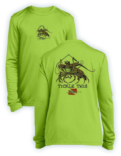Tickle This Lobster - KIDS Long Sleeve Performance - 100% Polyester
