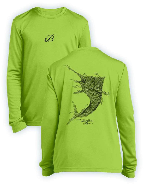 Bait Baller Marlin- KIDS Long Sleeve Performance - 100% Polyester