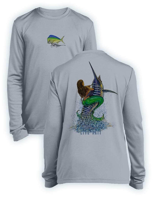 Live Bait- KIDS Long Sleeve Performance - 100% Polyester