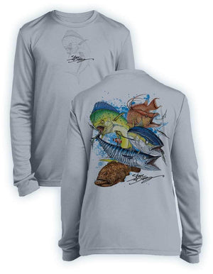 Grand Slam- KIDS Long Sleeve Performance - 100% Polyester