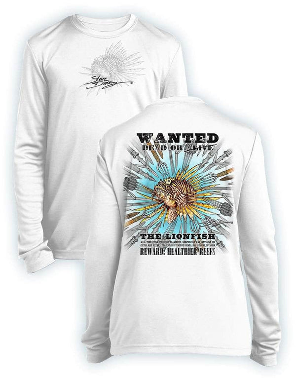 Lionfish Wanted- SPEARS- KIDS Long Sleeve Performance - 100% Polyester