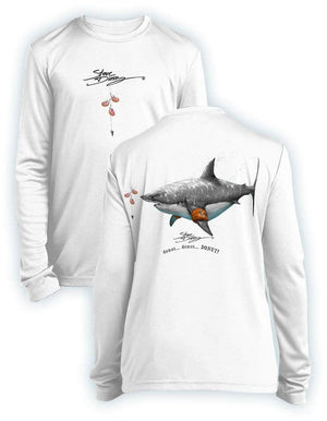 DONUT SHARK- KIDS Long Sleeve Performance - 100% Polyester
