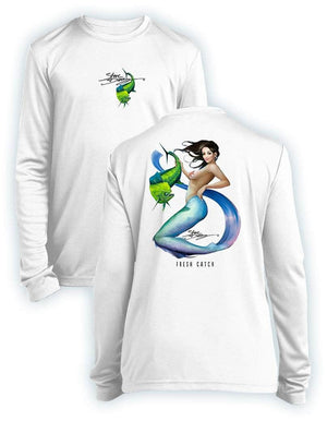 NEW! Fresh Catch- KIDS Long Sleeve Performance - 100% Polyester