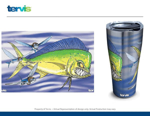"NEW! ""Mad Mahi Battle"" Stainless Steel Tervis Tumbler"