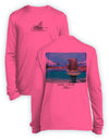 Shark Fishing- KIDS Long Sleeve Performance - 100% Polyester