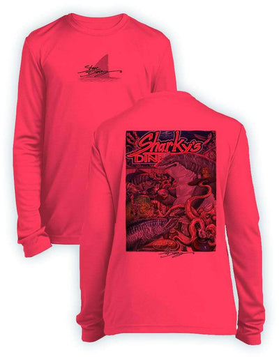 Sharky's Diner- KIDS Long Sleeve Performance - 100% Polyester