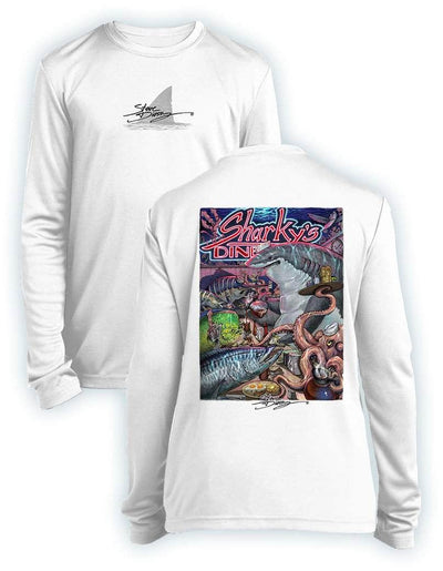 NEW! Sharky's Diner- KIDS Long Sleeve Performance - 100% Polyester
