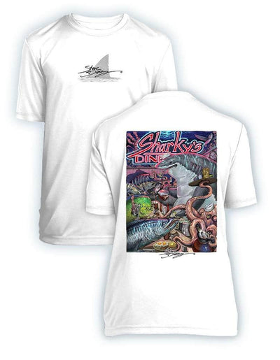 Sharky's Diner- KIDS Short Sleeve Performance - 100% Polyester