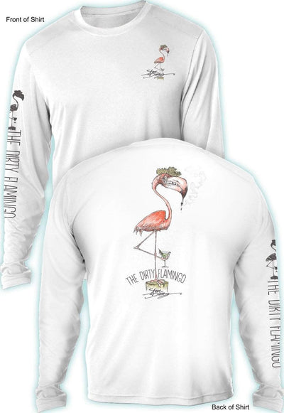 Dirty Flamingo- UV SUN PROTECTION SHIRT - 100% POLYESTER -LONG SLEEVE UPF 50