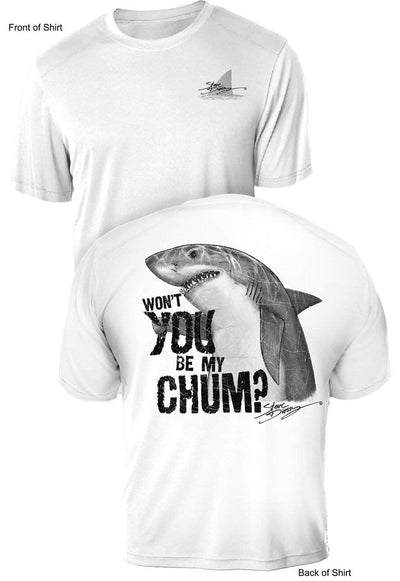 Shark Chum- UV Sun Protection Shirt - 100% Polyester - Short Sleeve UPF 50