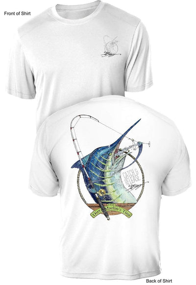 Dirty Marlin- UV Sun Protection Shirt - 100% Polyester - Short Sleeve UPF 50