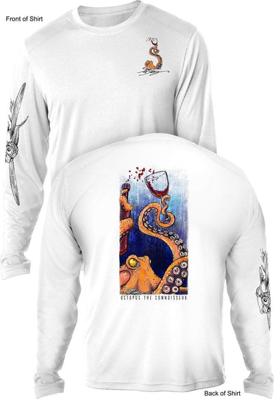 Octopus the Connoisseur - UV SUN PROTECTION SHIRT - 100% POLYESTER -LONG SLEEVE UPF 50