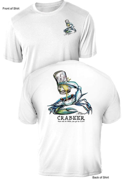 Crabeer- UV Sun Protection Shirt - 100% Polyester - Short Sleeve UPF 50