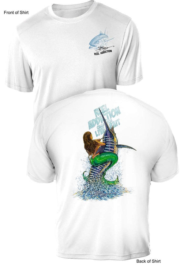 REEL ADDICTION Live Bait- UV - Short Sleeve - CustomPPOLY