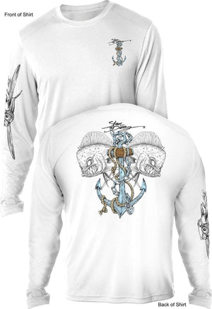 Mahi Anchor-Color- UV SUN PROTECTION SHIRT - 100% POLYESTER -LONG SLEEVE UPF 50