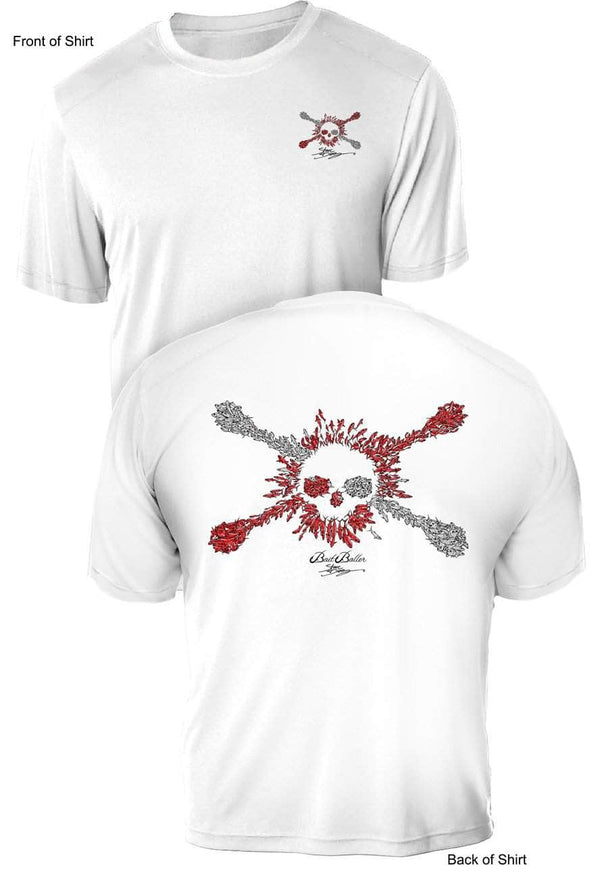 Bait Baller Jolly Roger Dive Flag- UV Sun Protection Shirt - 100% Polyester - Short Sleeve UPF 50