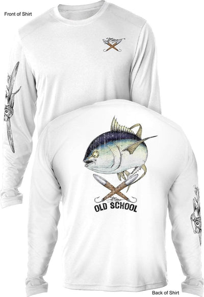 Old School Tuna - UV SUN PROTECTION SHIRT - 100% POLYESTER -LONG SLEEVE UPF 50