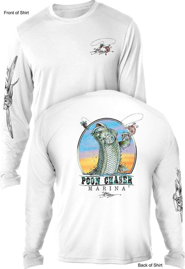 Poon Chaser- UV SUN PROTECTION SHIRT - 100% POLYESTER -LONG SLEEVE UPF 50