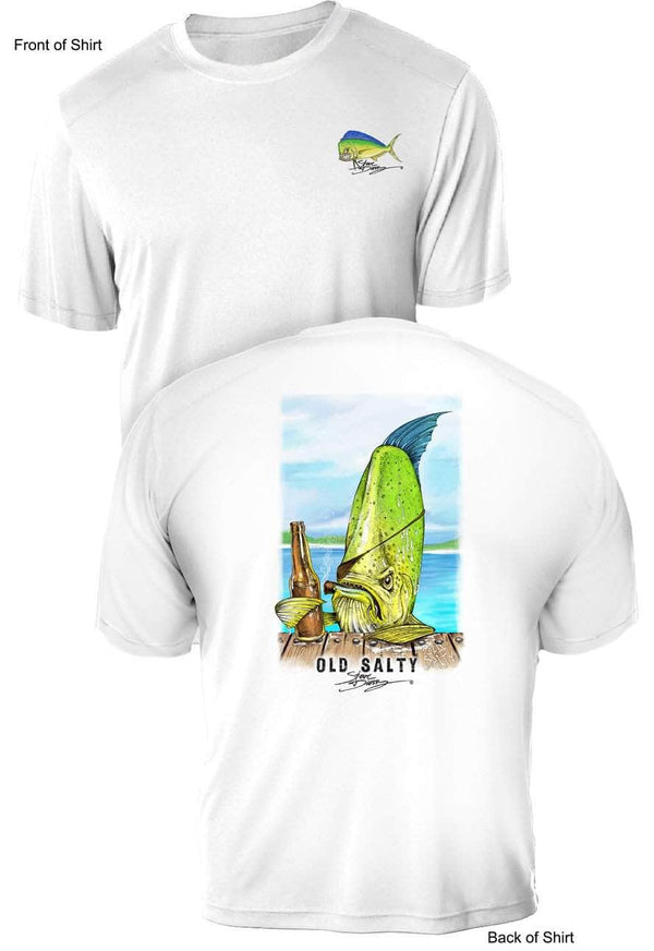 NEW! Old Salty - UV Sun Protection Shirt - 100% Polyester - Short Sleeve UPF 50