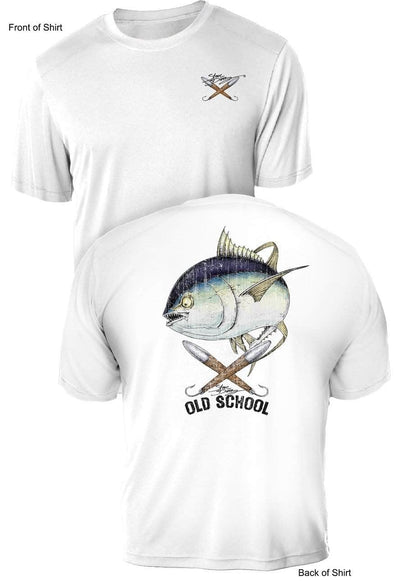 Old School Tuna- UV Sun Protection Shirt - 100% Polyester - Short Sleeve UPF 50