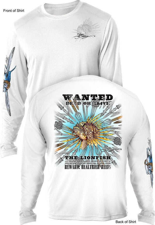 Lionfish Spears - UV SUN PROTECTION SHIRT - 100% POLYESTER -LONG SLEEVE UPF 50