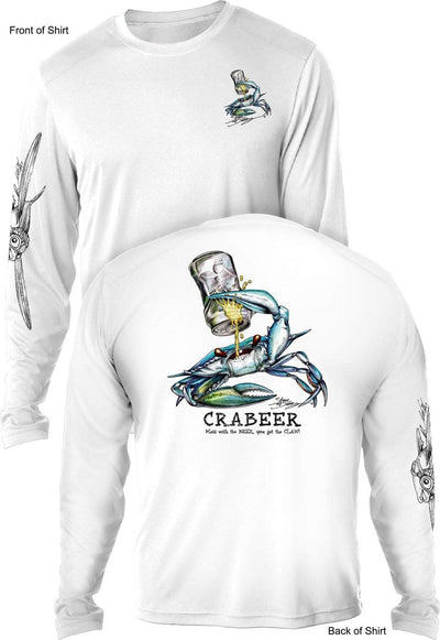 Crabeer - UV SUN PROTECTION SHIRT - 100% POLYESTER -LONG SLEEVE UPF 50