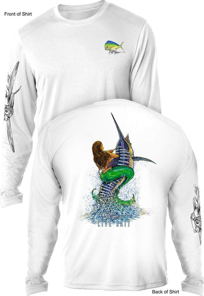 Live Bait- UV SUN PROTECTION SHIRT - 100% POLYESTER -LONG SLEEVE UPF 50