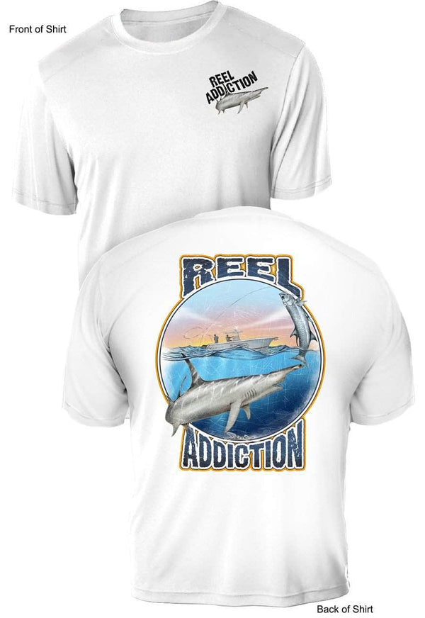REEL ADDICTION Hammerhead - UV - Short Sleeve -CustomPPOLY