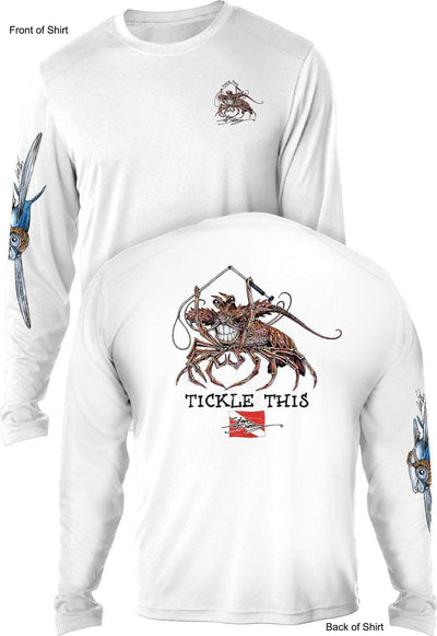 Tickle This Lobster- MEN'S LONG SLEEVE SUN PROTECTION SHIRT ᴜᴘꜰ-ᴛᴇᴇ