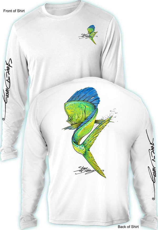 NEW! Mahi Swim- UV SUN PROTECTION SHIRT - 100% POLYESTER -LONG SLEEVE UPF 50