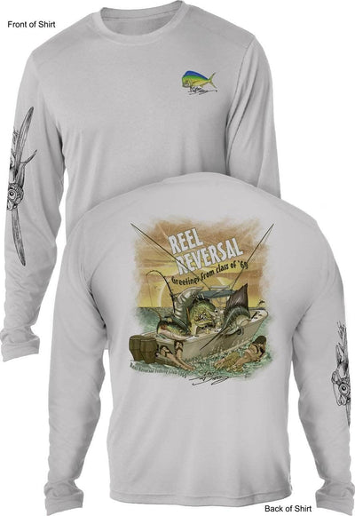 Reel Reversal- UV SUN PROTECTION SHIRT - 100% POLYESTER -LONG SLEEVE UPF 50