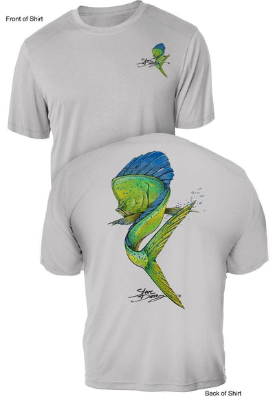 Mahi Swim- UV Sun Protection Shirt - 100% Polyester - Short Sleeve UPF 50